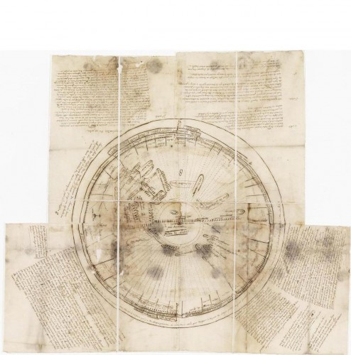 Plan de chasse pour traquer la Bête du Gévaudan (78 x 67 cm) Cote : F/10/476 © Archives nationales, pôle images