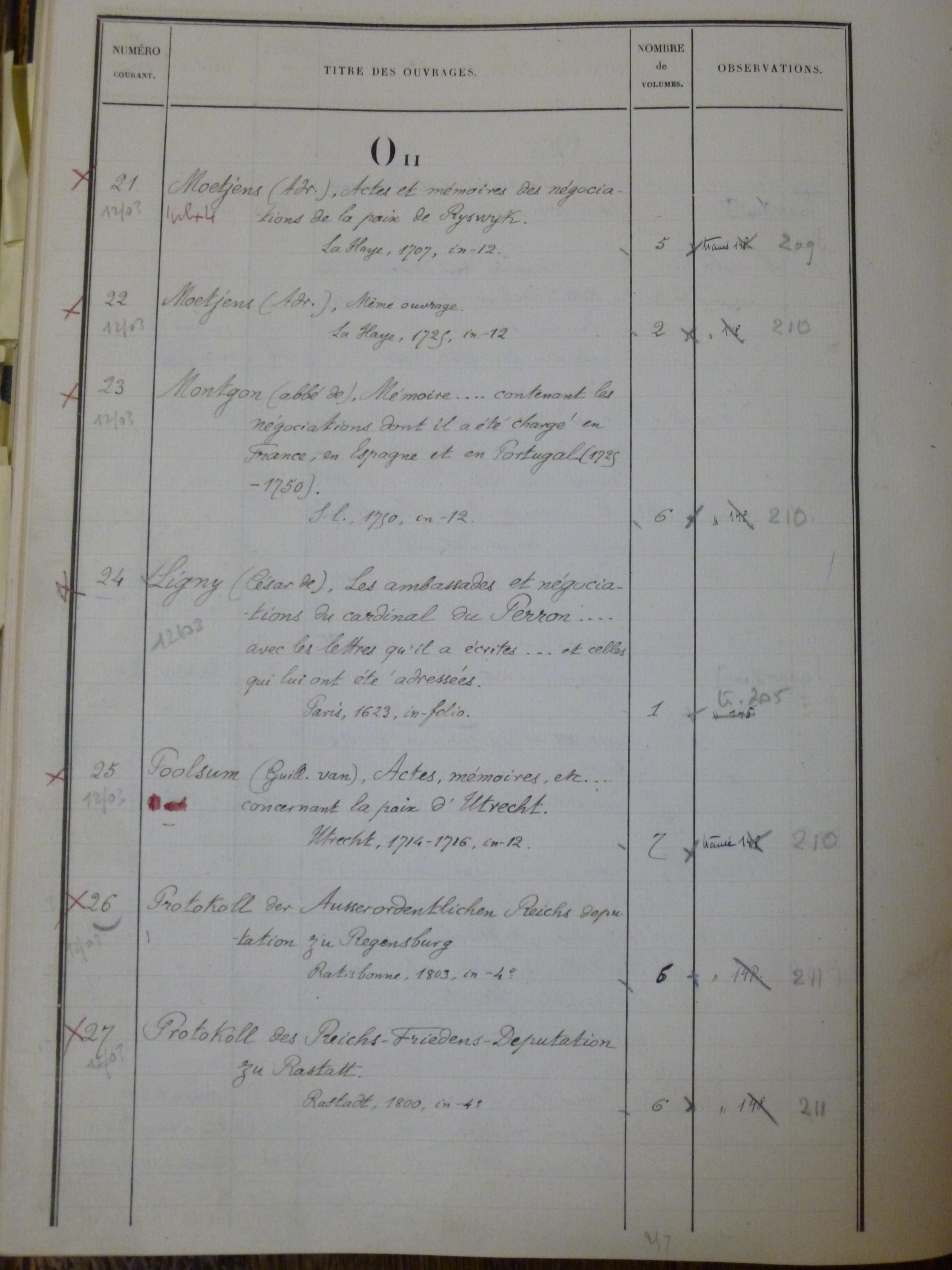 """Catalogue méthodique de la bibliothèque des Archives nationales (O II – """"Droit public de l'Allemagne, de la Belgique, de la Hollande, etc."""")"""