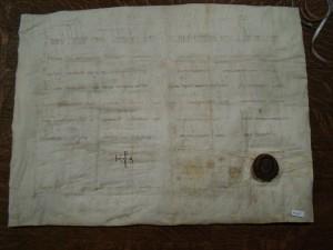 Diplôme de Charles le Chauve avec sceau plaqué et monogramme, 843 (K 10, n° 7/1)