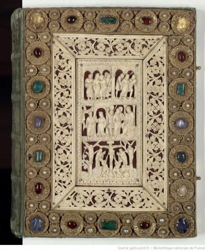 Evangéliaire de Drogon, BNF, Département des manuscrits, ms. Latin 9388, couverture.
